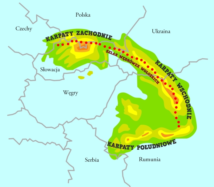Mapa Karpat nasz wzór