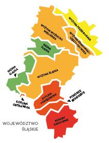 Mapa Woj. Ślaskie